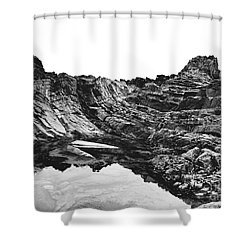 Shower Curtain featuring the photograph Rock by Rebecca Harman