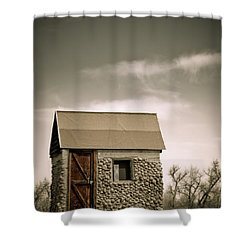 Rock Shed Shower Curtain by Marilyn Hunt