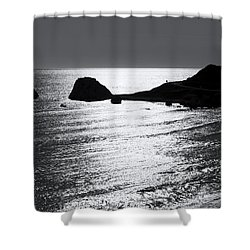 Rock Silhouette Shower Curtain by Mike Santis