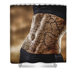 Rock Solid Abs Shower Curtain by Scott Meyer