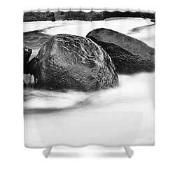 Shower Curtain featuring the photograph Rock Solid by Larry Ricker