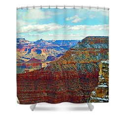 Shower Curtain featuring the photograph Rock Solid by Roberta Byram