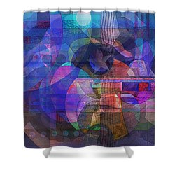 Rock Star Shower Curtain by David Klaboe