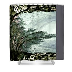 Shower Curtain featuring the photograph Rock Tunnel by Pennie  McCracken