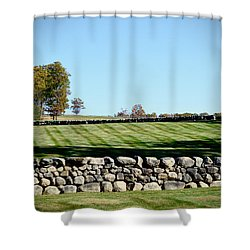 Rock Wall Lawn Shower Curtain