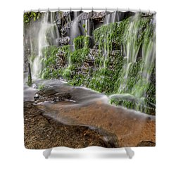 Rock Wall Waterfall Shower Curtain