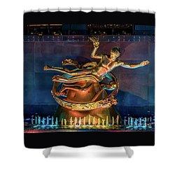 Rockefeller Bronze Shower Curtain