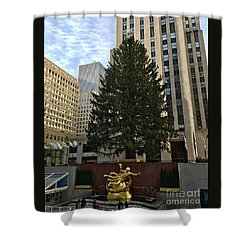 Rockefeller Center Christmas Tree Shower Curtain