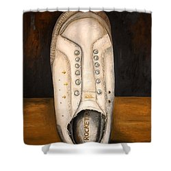 Rocket Dog 2 Shower Curtain by Leah Saulnier The Painting Maniac