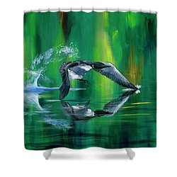 Rocket Feathers Shower Curtain