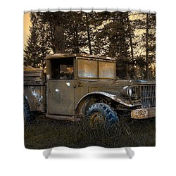 Rockies Transport Shower Curtain by Wayne Sherriff
