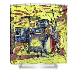Rockin Drums Shower Curtain