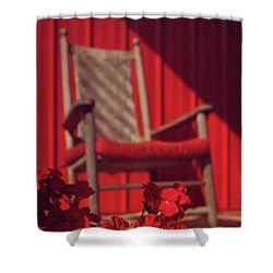 Shower Curtain featuring the photograph Rockin' Red by Jessica Brawley