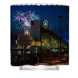 Rocking Fireworks Shower Curtain