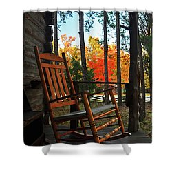 Rocking In Fall Shower Curtain