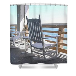 Shower Curtain featuring the photograph Rocking Waves 01 by Linda Mesibov