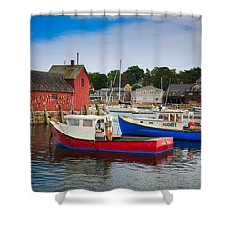 Rockport Harbor 2 Shower Curtain