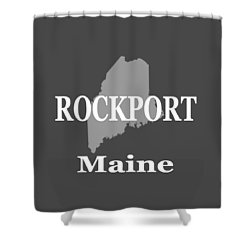 Shower Curtain featuring the photograph Rockport Maine State City And Town Pride  by Keith Webber Jr