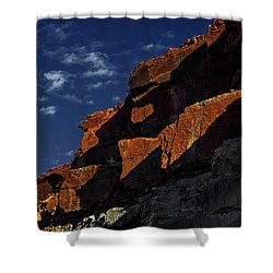 Sky And Rocks Shower Curtain