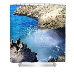 Rocks And Rainbow Shower Curtain