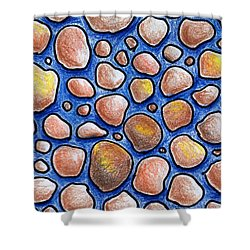 Rocks And Water Abstract Shower Curtain by Nancy Mueller