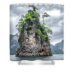 Rocks At Khao Sok Shower Curtain