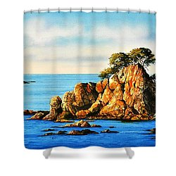 Rocks At Palafrugel,calella, Spain Shower Curtain