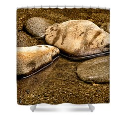 Rocks At Rest Shower Curtain by Christopher Holmes