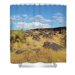 Rocks Celebration Park Idaho Shower Curtain