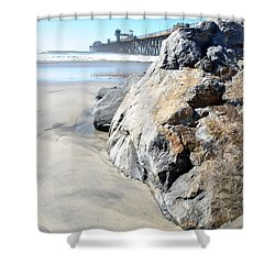 Rocks Eye View Shower Curtain