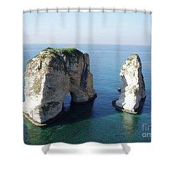 Rocks In Sea Shower Curtain