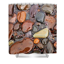 Rocks Of Lake Superior 12 Shower Curtain
