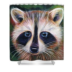 Shower Curtain featuring the painting Rocky by Angela Treat Lyon