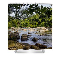 Rocky Broad River Shower Curtain