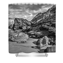 Rocky China Beach San Francisco Shower Curtain