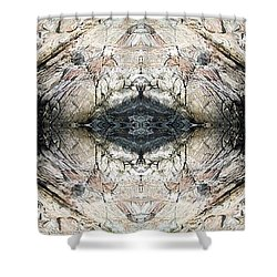 Rocky Coast Abstract Shower Curtain by Joy Nichols