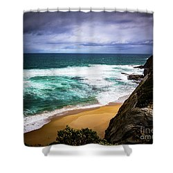 Shower Curtain featuring the photograph Rocky Coast by Perry Webster