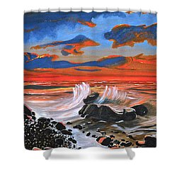 Rocky Cove Shower Curtain by Donna Blossom