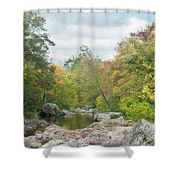 Shower Curtain featuring the photograph Rocky Creek Shut-ins by Julie Clements