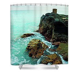 Rocky Landing Shower Curtain