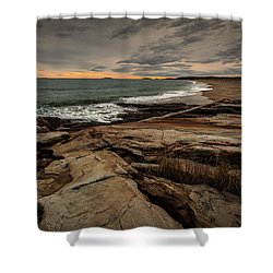 Rocky Maine Shoreline  Shower Curtain
