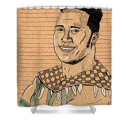 Rocky Maivia Shower Curtain