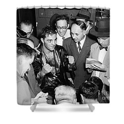 Rocky Marciano (1924-1969) Shower Curtain by Granger