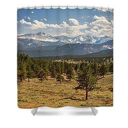 Shower Curtain featuring the photograph Rocky Mountain Afternoon High by James BO Insogna