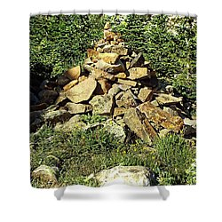 Rocky Mountain Cairn Shower Curtain