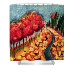 Rocky Mountain Shower Curtain by Elizabeth Fontaine-Barr