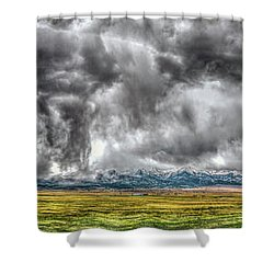 Rocky Mountain Panorama Hdr Shower Curtain