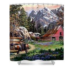 Rocky Mountain Ranch Shower Curtain