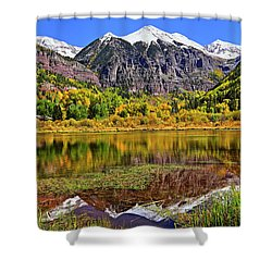 Rocky Mountain Reflections - Telluride - Colorado Shower Curtain by Jason Politte
