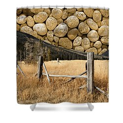 Shower Curtain featuring the photograph Rocky Mountain Sky by John Stephens